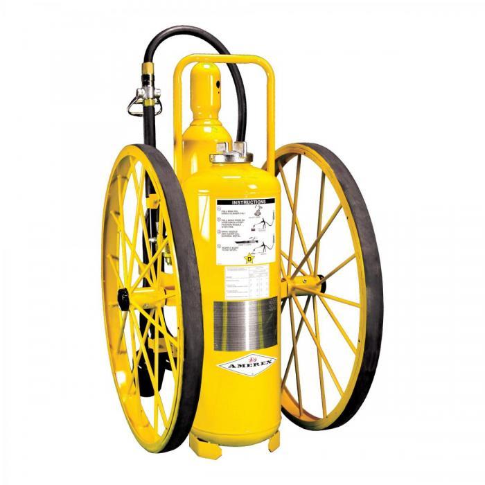 12.Extintores Rodantes - Agente químico seco de CLASE D-150lb